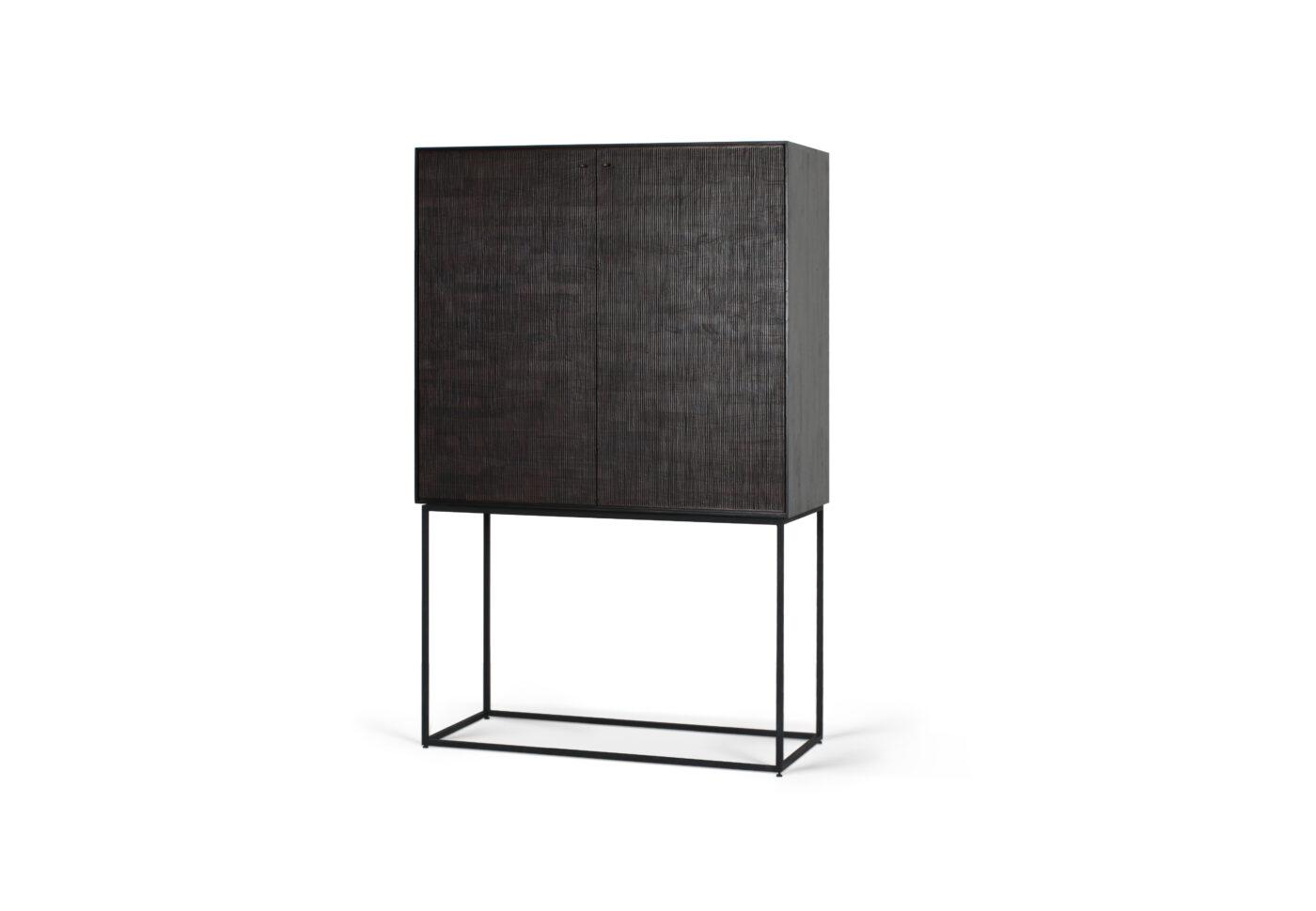 12250 Teak Grooves storage cupboard 2 doors 2 drawers p
