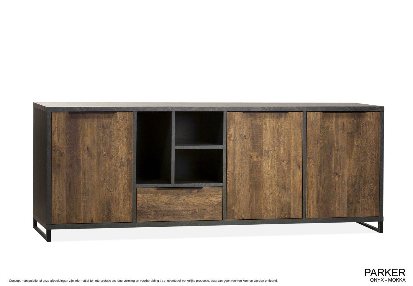 Parker dressoir 3 deurs