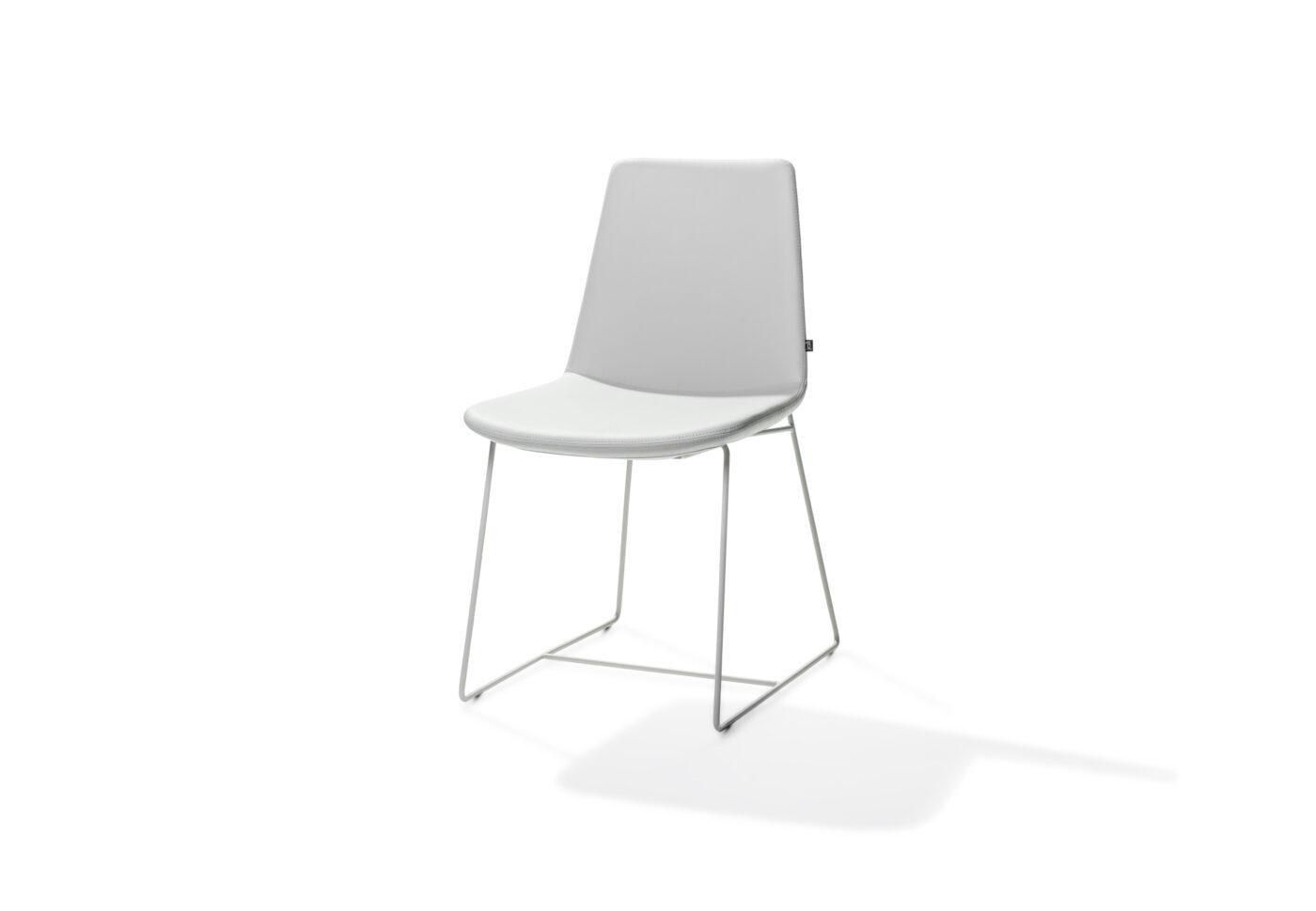Rafael Sled Base Chair White 1