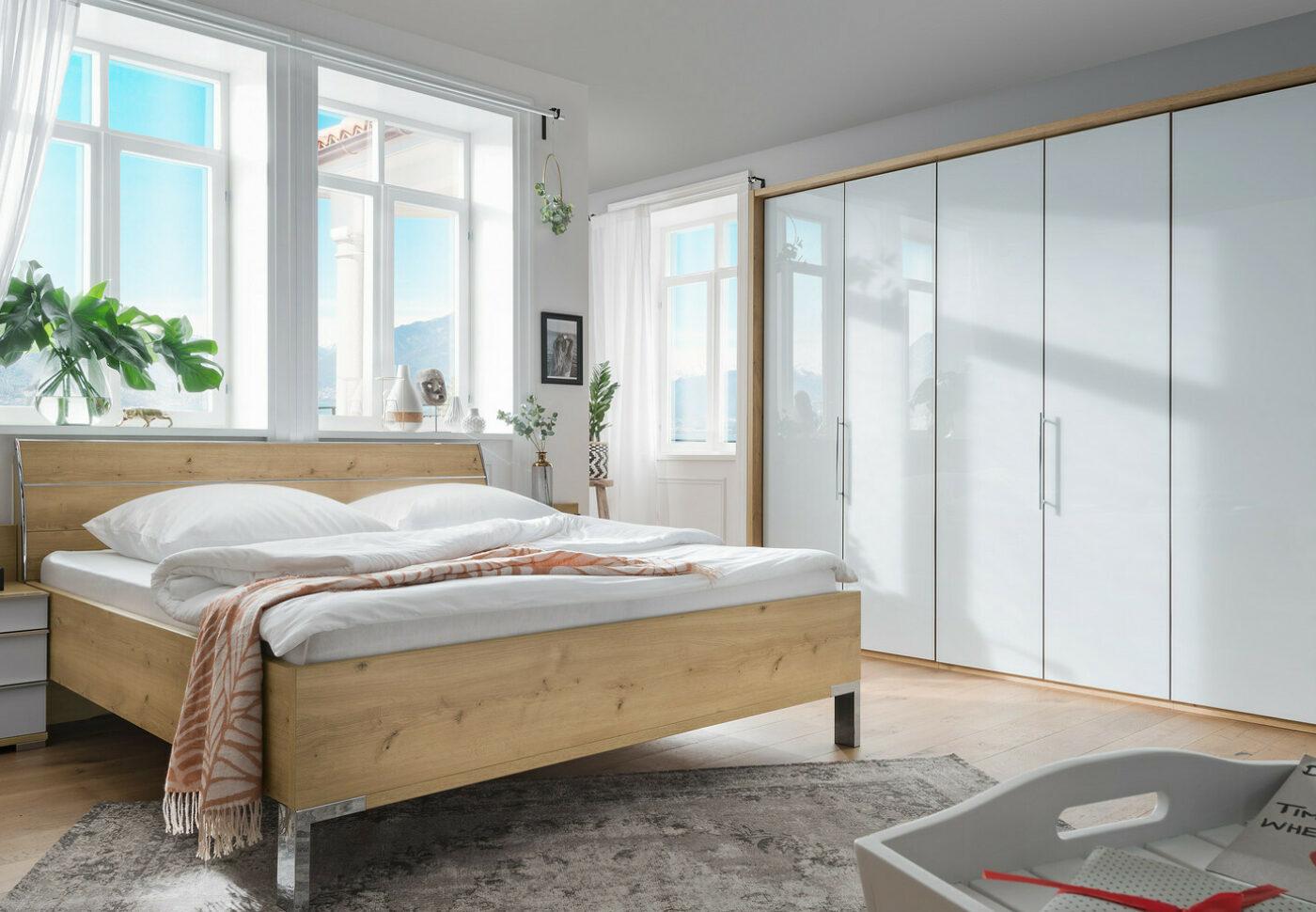Csm Loft Schlafzimmer modern Bianco Eiche Nachbildung Glas weiss 4ffedf6f44
