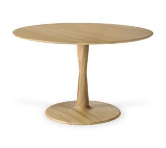 50019 Oak Torsion dining table front cut web