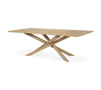 50180 Oak Mikado Dining Table side cut web