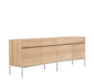 50951 Oak Ligna sideboard 4 opening doors 4 drawers p