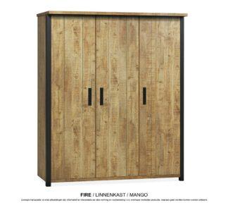 Fire linnenkast 3 deurs