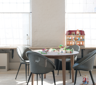 W800h1000zc Z Cq85 Vincent Sheppard Lille extendable dining table Jack dining chair steel base